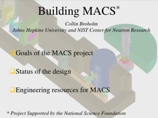 Building MACS *