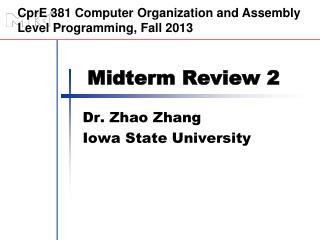 Midterm Review 2