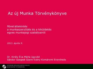 Az új Munka Törvénykönyve