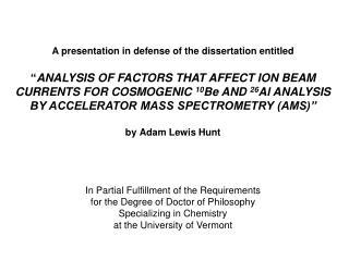 Outline of dissertation defense