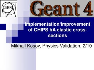 Implementation/improvement of CHIPS hA elastic cross-sections