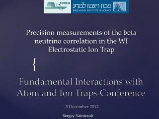Precision measurements of the beta neutrino correlation in the WI Electrostatic Ion Trap