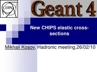 New CHIPS elastic cross-sections