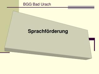 BGG Bad Urach