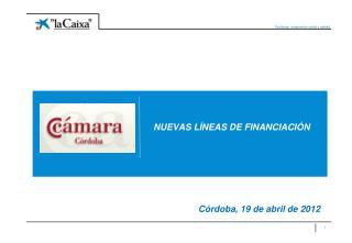 NUEVAS LÍNEAS DE FINANCIACIÓN