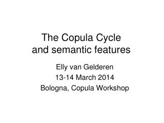 The Copula Cycle  and semantic features
