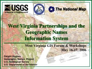 Dwight Hughes Geographic Names  Project U.S. Geological Survey U.S. Department of the Interior