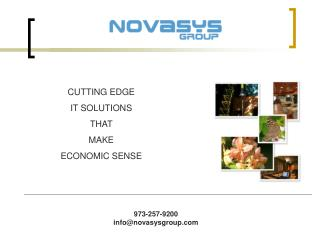 CUTTING EDGE  IT SOLUTIONS  THAT  MAKE  ECONOMIC SENSE