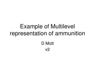 Example of Multilevel representation of ammunition