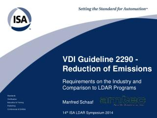 VDI Guideline 2290 - Reduction of Emissions