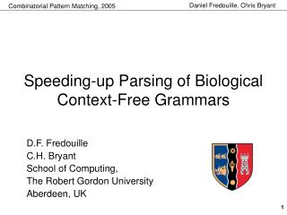 Speeding-up Parsing of Biological Context-Free Grammars