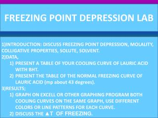 FREEZING POINT DEPRESSION LAB