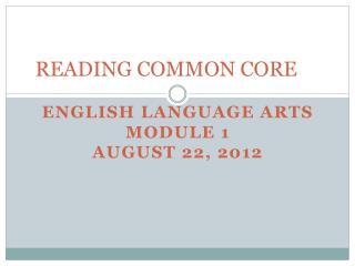 READING COMMON CORE