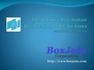The National Registration  Organization of BIC for Korea bic-code