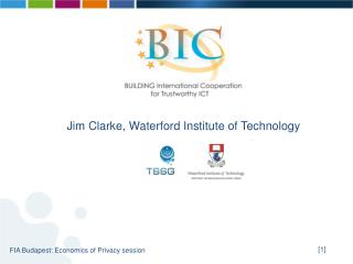 Jim Clarke, Waterford Institute of Technology