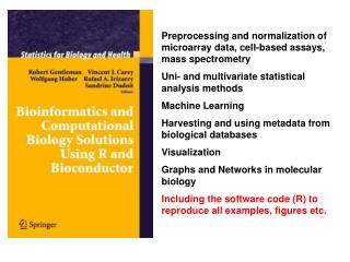 Preprocessing and normalization of microarray data, cell-based assays, mass spectrometry