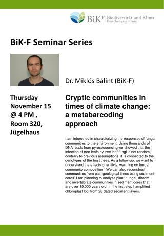 BiK-F Seminar Series