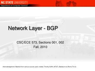 Network Layer - BGP