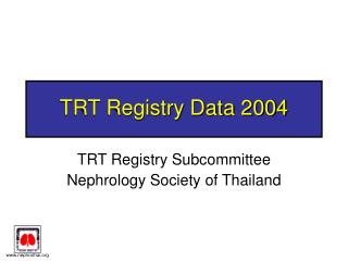 TRT Registry Data 2004