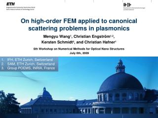 On high-order FEM applied to canonical scattering problems in plasmonics