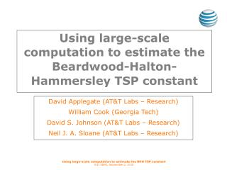 Using large-scale computation to estimate the Beardwood-Halton-Hammersley TSP constant