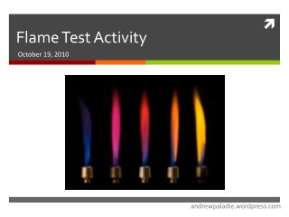 Flame Test Activity