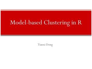 Model-based Clustering  in R