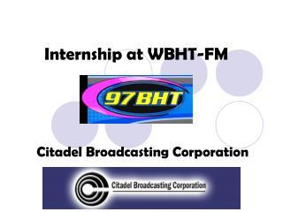 Internship at WBHT-FM