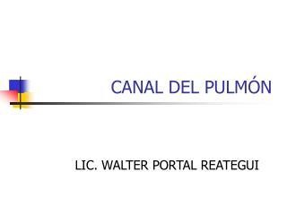 CANAL DEL PULMÓN