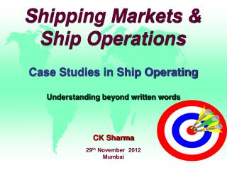 Shipping Markets & Ship Operations