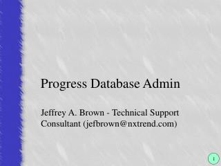 Progress Database Admin