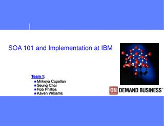 SOA 101 and Implementation at IBM