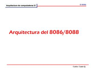 Arquitectura del  8086/8088