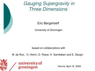 Gauging Supergravity in                      Three Dimensions