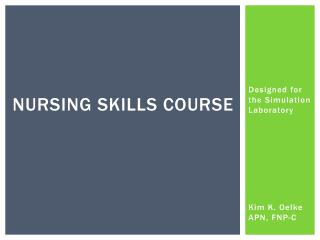 Nursing skills course