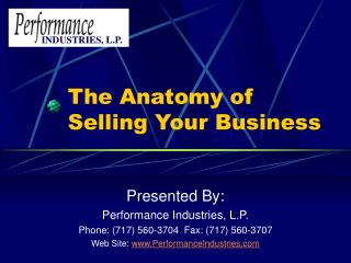 The Anatomy of Selling Your Business