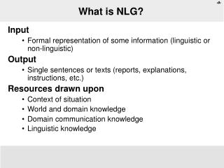 What is NLG?