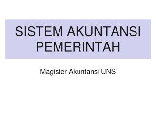 SISTEM AKUNTANSI PEMERINTAH