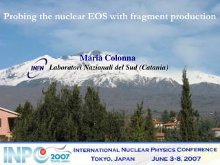 Probing the nuclear EOS with fragment production