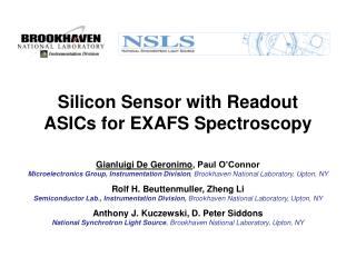 Silicon Sensor with Readout ASICs for EXAFS Spectroscopy