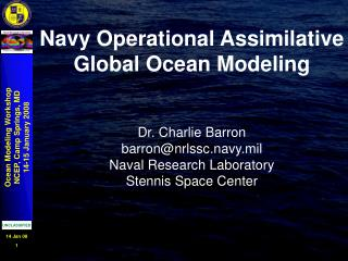 Navy Operational Assimilative Global Ocean Modeling