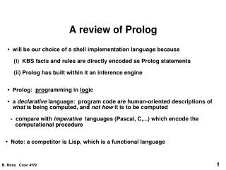 A review of Prolog