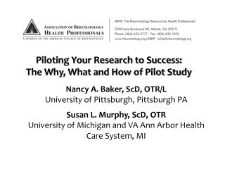 Piloting Your Research to Success:  The Why, What and How of Pilot Study