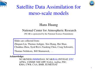 Slides are collected from: Zhiquan Liu, Thomas Auligne, Xin Zhang, Hui Shao,
