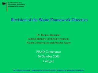 Revision of the Waste Framework Directive