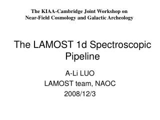 The LAMOST 1d Spectroscopic Pipeline