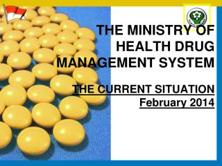 THE MINISTRY OF HEALTH DRUG MANAGEMENT SYSTEM THE CURRENT  SITUATION February 2014