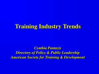 American Society for Training & Development