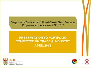 Response to Comments on Broad-Based Black Economic Empowerment Amendment Bill, 2012