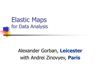 Elastic Maps for Data Analysis